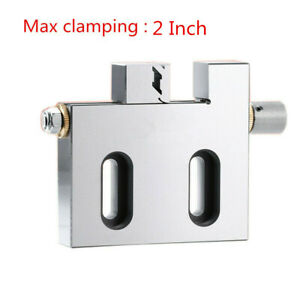 """1x 2"""" Wire EDM High Precision Vise Stainless Steel 50mm Jaw Open Clamp CNC Tool"""