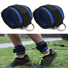 D-Ring Knöchelriemen Fußschlaufen mit Ringösen Fitness Bein Band NEU