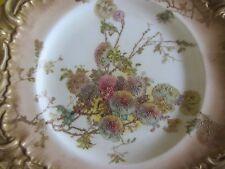ART NOUVEAU DOULTON BURSLEM FLORAL Antique Blush Gilt CABINET PLATE CA 1891-1901