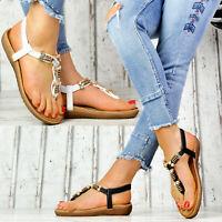 Neu Designer Gladiator Damenschuhe Sommer Sandalen Nieten Riemchen Damen Schuhe