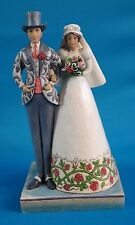 "Jim Shore ""I Do"" Bride & Groom Wedding Figurine 10"" Tall"