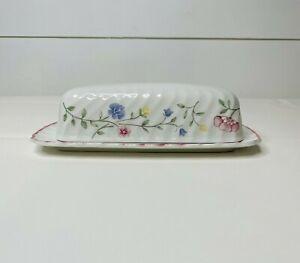 Johnson Bros Floral Design Porcelain Butter Dish Serving
