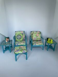 Barbie Go Together Furniture Kit 1963 Original complete With Extras, HTF Teal