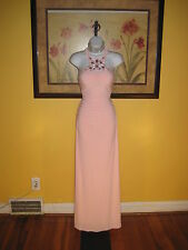 NWT  $228 Cache Blush Pink Jeweled Evening Gown Size 4