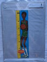 1969 Topps Rulers Basketball #10 Lew Alcindor RC Rookie HOF BECKETT BGS 8 NM-MT