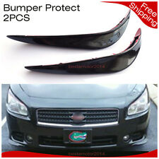 2Pcs Car Bumper Protector Corner Scratch Sticker Front Lower Lip Guard Universal