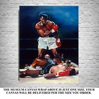 SALE 50% OFF MUHAMMAD ALI LISTON ART PRINT FRAMED CANVAS SIGNED BY WINFORD