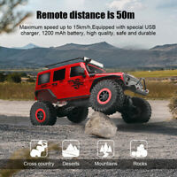 1/10 2.4Ghz RC Car 4×4 Electric Rock Crawler Toy w/ LED Light off-road Vehicle
