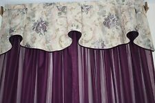 "Croscill Chambord Custom Sheer Purple Panels  114"" X 84"""