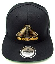 STREETWISE PYRAMID Snapback Cap Hat Illuminati OSFM Adult Black w/Gold New