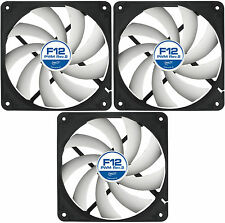 3 x Arctic Cooling F12 PWM Rev.2 120mm Case Fans 1350 RPM (AFACO-120P2-GBA01)