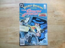1987 DC SECRET ORIGINS # 5 SIGNED 2X GENE COLAN & ROY THOMAS, WITH POA