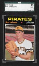 1971 TOPPS BASEBALL CARD #298 JIM NELSON PIRATES SGC 7.5 MINT GRADED 86 NM+ ABC