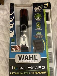 *SEALED* WALH TOTAL BEARD HAIR Compact Rechargeable LITHIUM Precision Trimmer