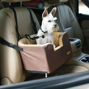 KH Mfg Pet Dog Hangin' Bucket Elevated Raised Car Booster Pet Seat Tan