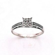 VINTAGE DIAMOND FILIGREE STERLING SILVER RING SIZE 7 EXCELLENT CONDITION