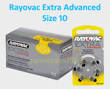 60 Pilas del 10 Rayovac made in USA para audifonos sordera