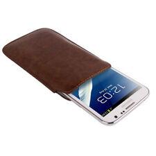 Etui mit Ausziehhilfe für Samsung N7100 Galaxy Note 2 in braun Tasche Hülle Case