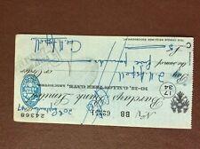b1u ephemera cashed barclays bank 62251 sept 1947 aspell 24368