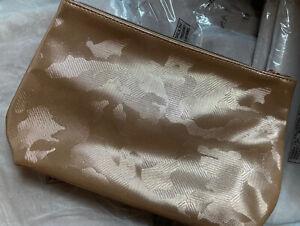 10 * LANCOME Signature Cosmetic Bag Fabric Rose GOLD Metallic Shine 21N GWP New
