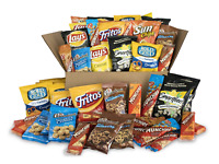 Sweet & Salty Snacks Variety Box, Mix of Cookies, Crackers, Chips & Nuts, 50