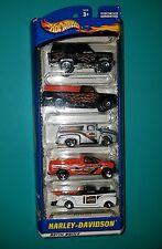 NOS Mattel Hot Wheels Car HARLEY DAVIDSON 5 TRUCK GIFT PACK 2000 NIP 50030 L@@K!
