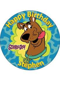 SCOOBY DOO #1 PERSONALISED 7.5 INCH/19 CM EDIBLE WAFER PAPER CAKE TOPPER