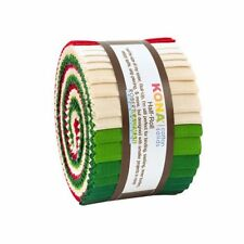 "KONA Cotton Solids Holiday Half Roll 2.5"" Fabric Quilting Strips HR-152-24"