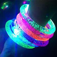 20 PCS Light-Up Wristbands LED Flashing Acrylic Bracelets Rave Glow EDC Toy UK