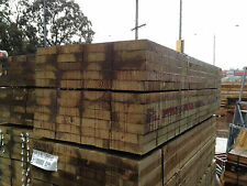 Treated Pine Sleepers 200x50 3.6m Retaining Wall Garden Bed Boxing Sand Pits