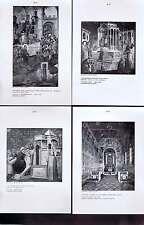 Florentine School-Virgin-Padua Early Italian Art Lithographs 1916