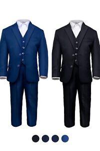 Festlicher Anzug Jungen 4tlg. Set Jacke + Hose+Weste+Hemd Kommunion Kinderanzug