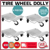 4PCS Wheel Dolly PU Castors Vehicle Positioning Jack 1500Lbs/Pc Car Dollies Kit