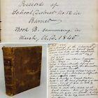 Handwritten Journal School Records Town Of Barnet Vermont 1840-1894 Education