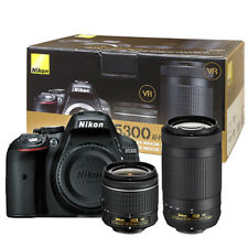 Nikon D5300 24.2MP DSLR Camera with 18-55mm & 70-300mm VR AF-P Dual Lens Kit