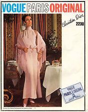 60's VTG VOGUE PARIS ORIGINAL Evening Dress Christian Dior w/Lab Pattern 2230 16