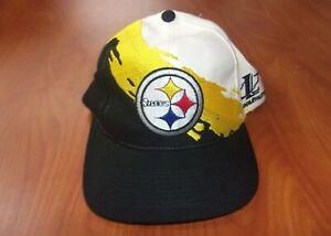 Vintage Logo Athletic Pro Line NFL Pittsburgh Steelers Football Snapback Hat NEW