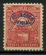 Nicaragua 1898 Sc. O124 Neuf * 100% timbres officiels