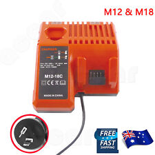 Battery Charger for Milwaukee M18 18V M12 12V Li-ion 48-11-1840 48-59-1812 AU
