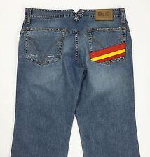 Dolce Gabbana jeans w35 tg 49 gamba dritta blu denim boyfriend usato uomo slim
