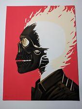 Ghost Rider Mike Mitchell Portrait Mondo Print Poster Marvel Signed Johnny Blaze