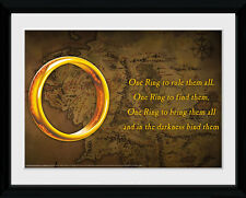 Lord Of The Rings One Ring LOTR Fantasy Film Framed Poster Print 40x30cm