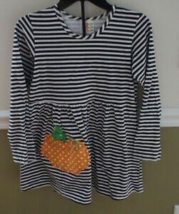 CWD Kids 10 12 Girls Pumpkin Swing Top Shirt PLAY Halloween Fall Made in USA