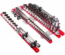 ERNST 8470 Twist Lock Complete Socket Organizer System with Magnetic Mount - Red