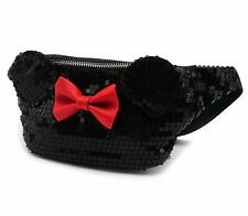Official Loungefly Minnie Mouse Sequin Red Bow Fanny Pack Bum Bag Purse Wallet
