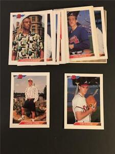 1992 Bowman Atlanta Braves Team Set 24 Cards
