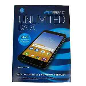"""Alcatel Tetra AT&T Prepaid 5"""" 16Gb 5MP Android Cell Phone"""