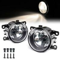 Pair Fog Light Lamp Replacement w/ H11 Bulb For Acura Honda Ford Nissan Subaru
