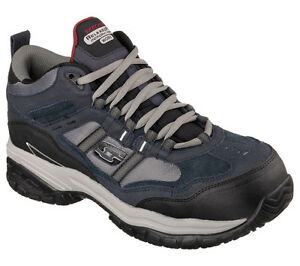 Men's SKECHERS WORK: RELAXED FIT Soft Stride - Canopy Com, 77027 NVGY Size 8