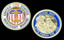 US MERCHANT MARINE CHALLENGE COIN PIN UP SS USS US NAVY RESERVE VETERAN USMM WOW